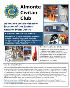 Event Centre Brochure