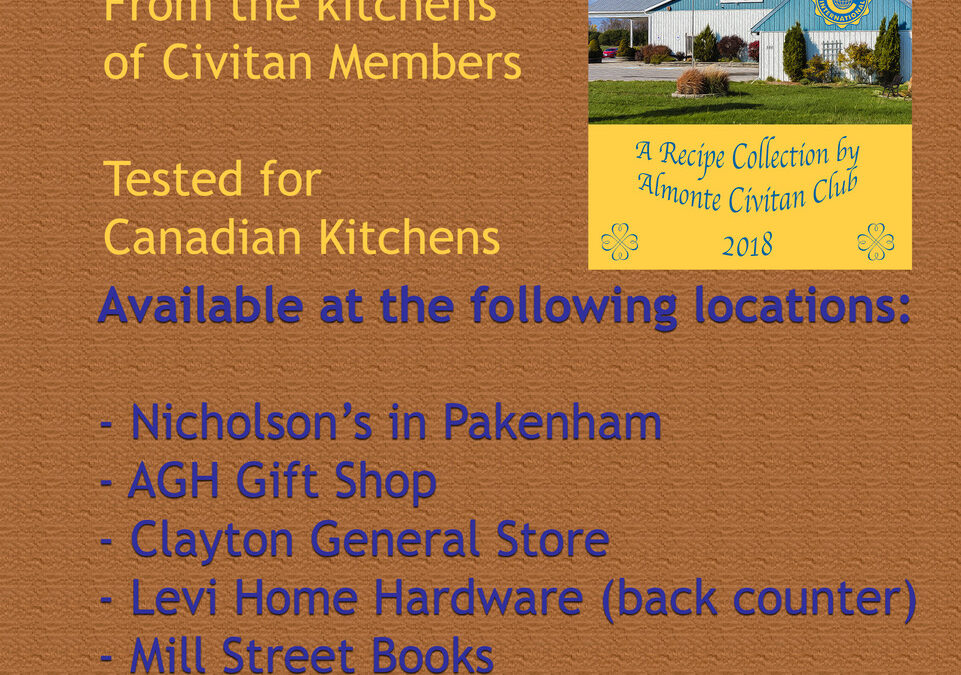 Recipes from the kitchen of Civitan members